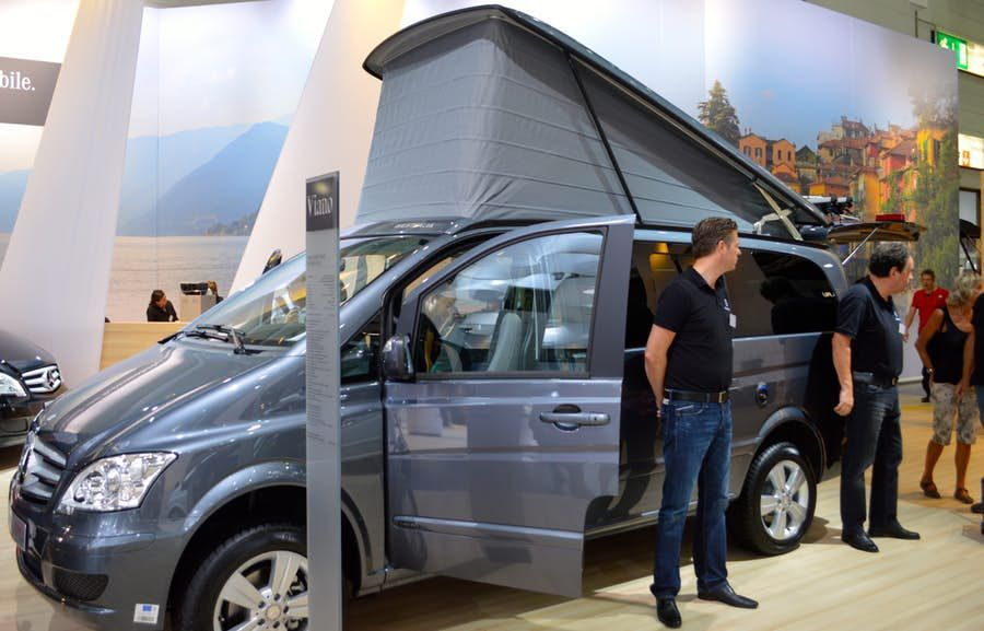 the mercedes benz viano marco polo in dusseldorf. Black Bedroom Furniture Sets. Home Design Ideas