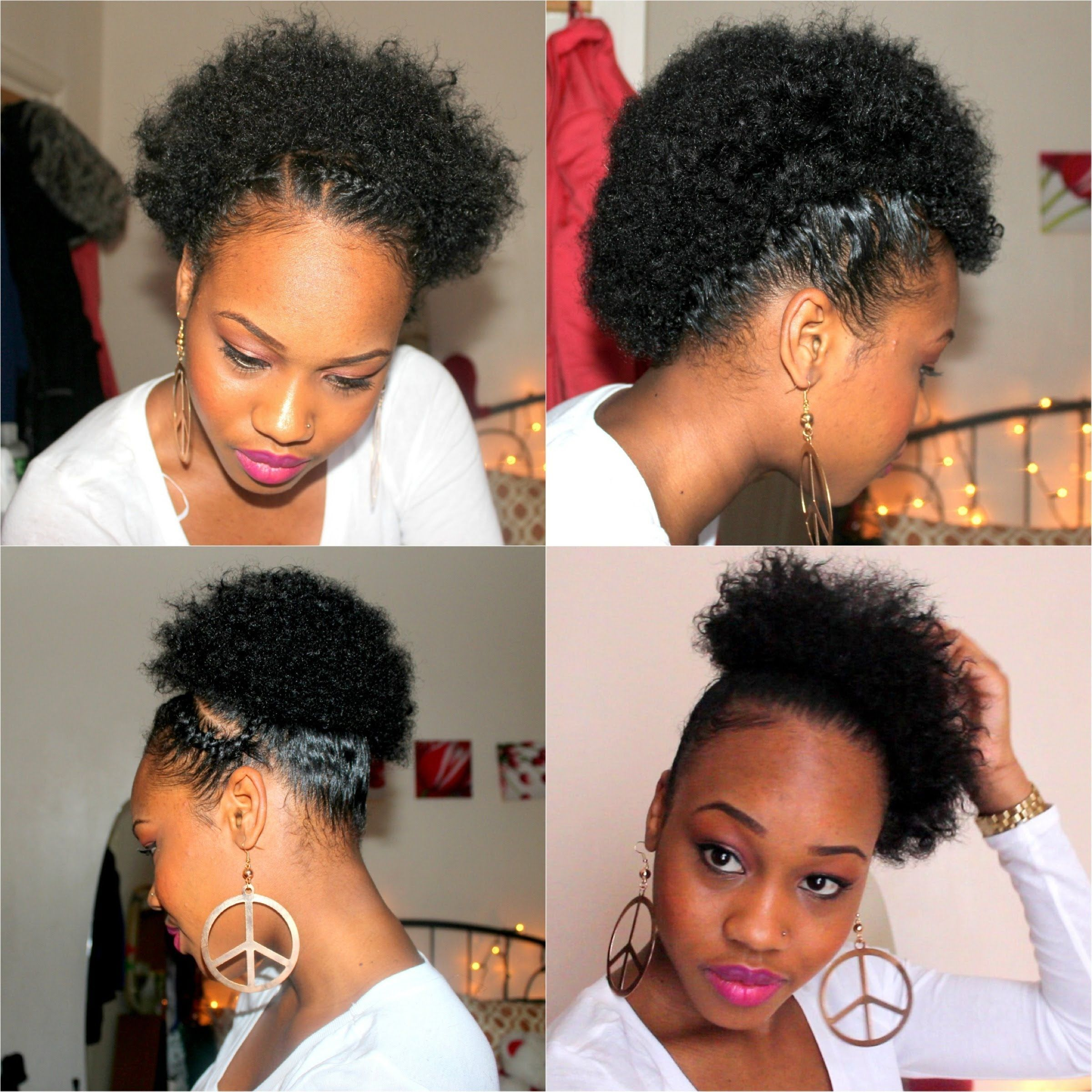Four Quick Easy Styles For Short Natural Hair Short Natural Hair Styles Short Hair Styles Easy Natural Hair Styles