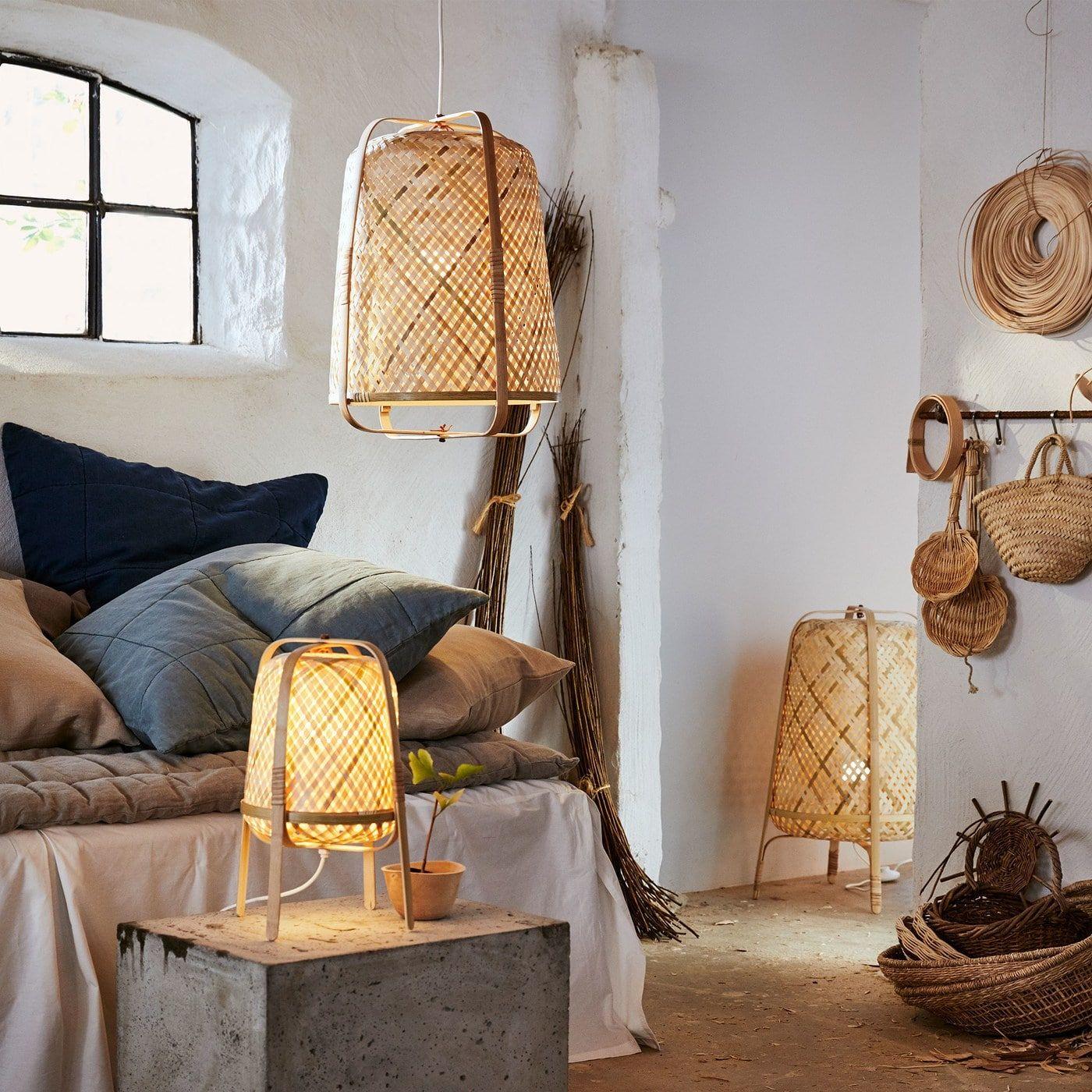 Ilumina tu casa con bambú y personalidad | Lampara de bambu
