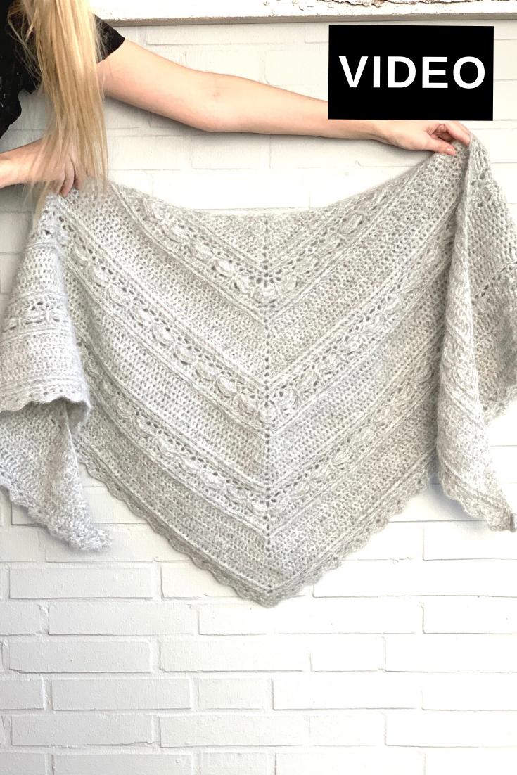 Ana Lucia Shawl - Free crochet pattern (VIDEO)