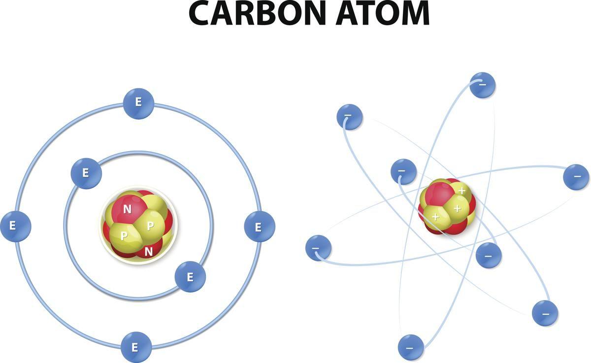 Carbon Atom Diagram Atom Tattoo Atom Carbon