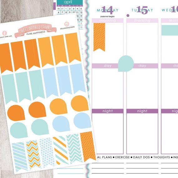 26 Flags & Teardrops Combo Stickers Sheet Set    Erin Condren Planner / Plum Paper Planner / Filofax / Kikki K / Planner