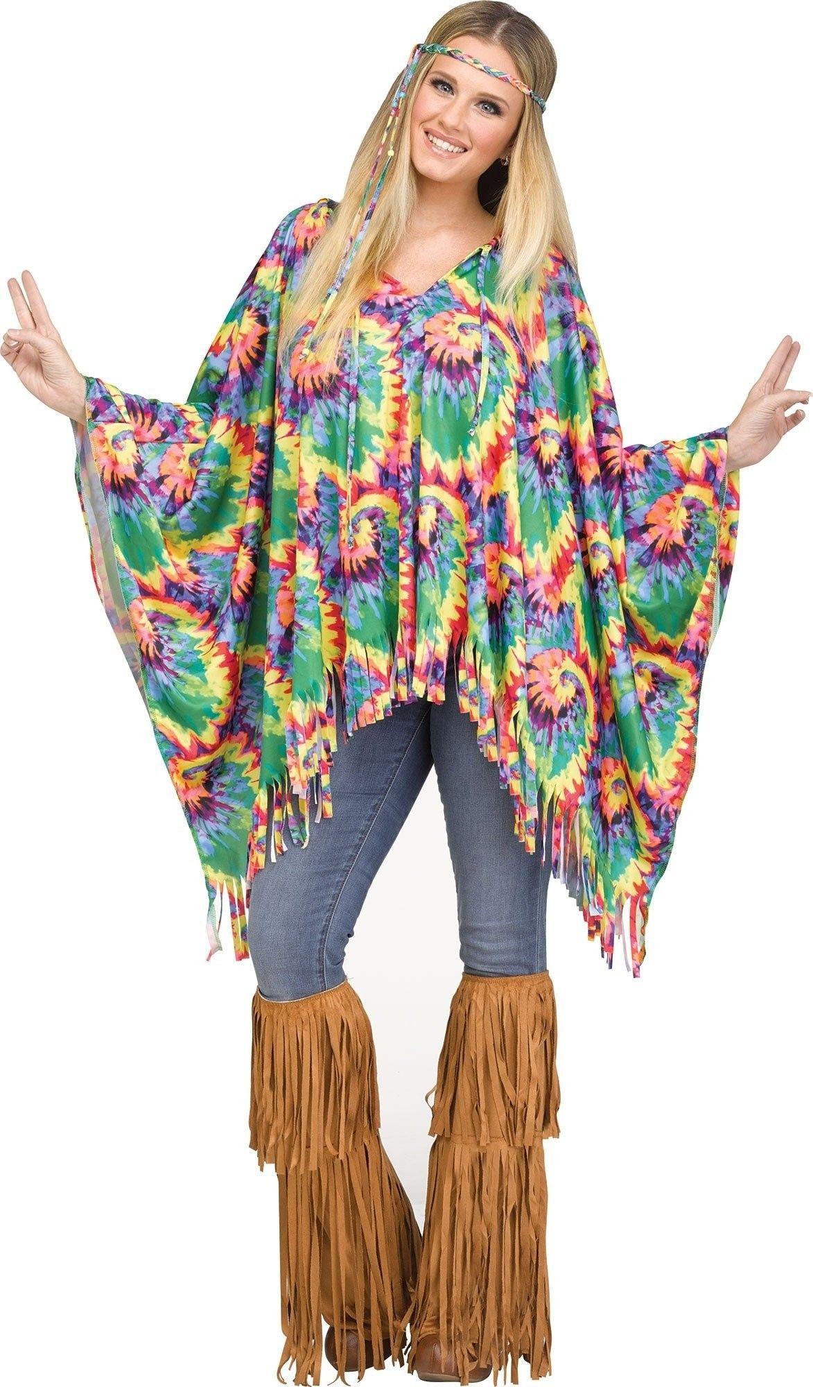 FLOWER POWER Costume Hippie Donna Costume M 38-40 70er anni OUTFIT schlagermove