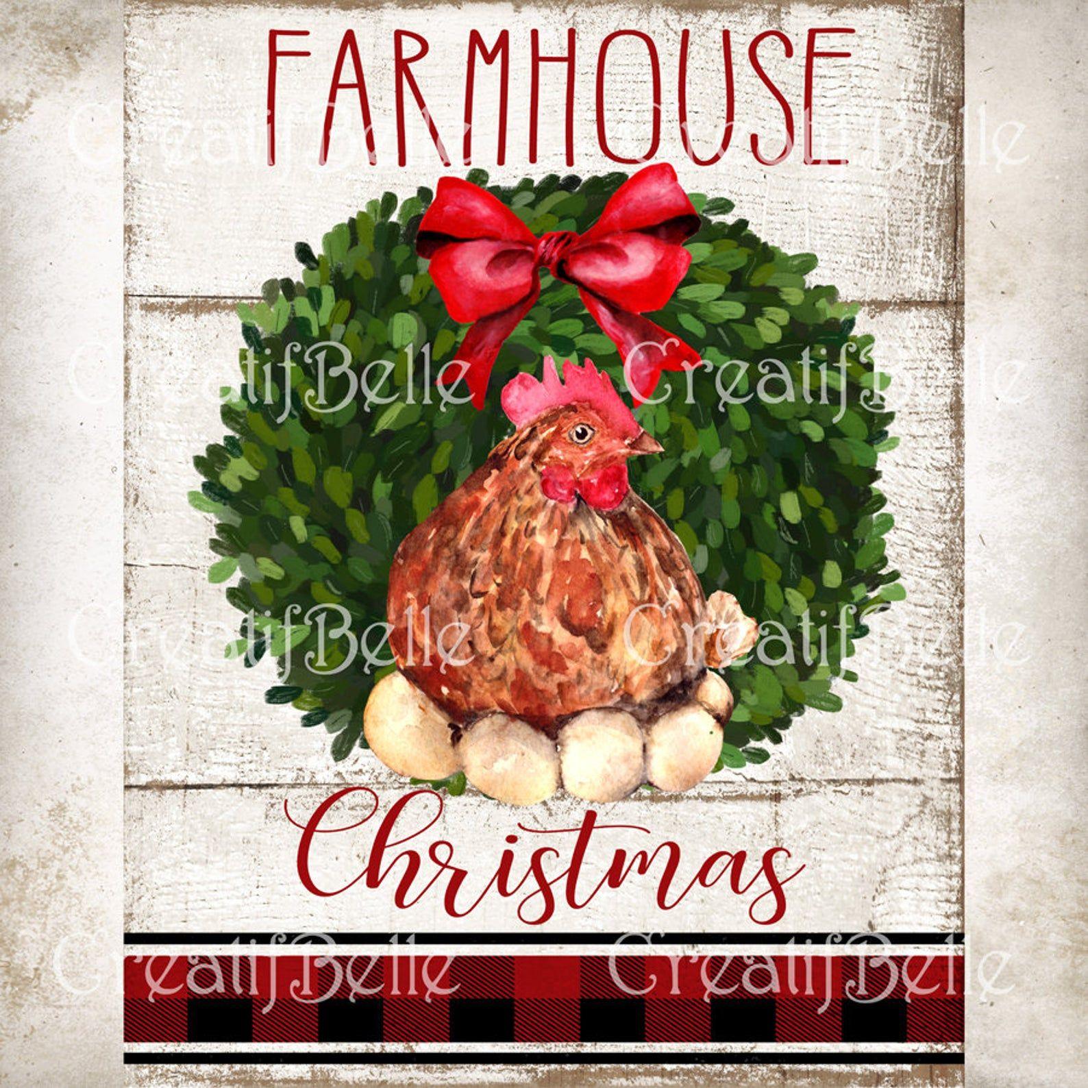 Farmhouse hen wreath sign farmhouse home decor sign wreath