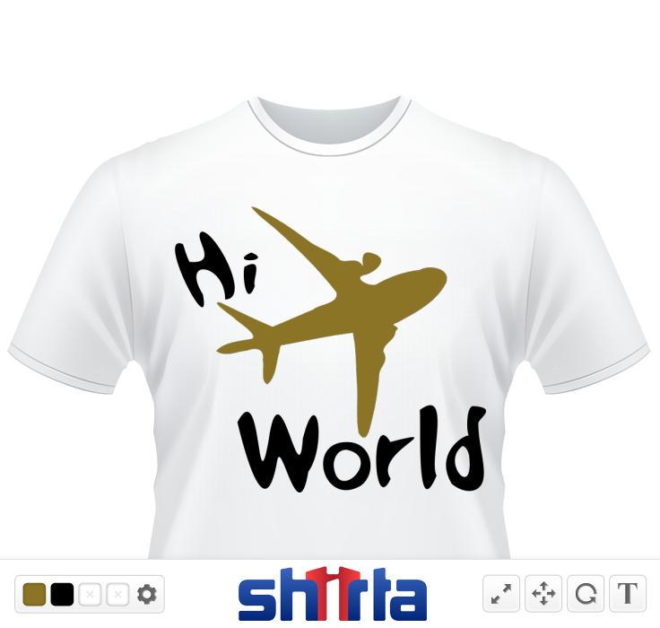 Hi world txt airplane air planes vehicles public transporatation vector graphic illustration line art