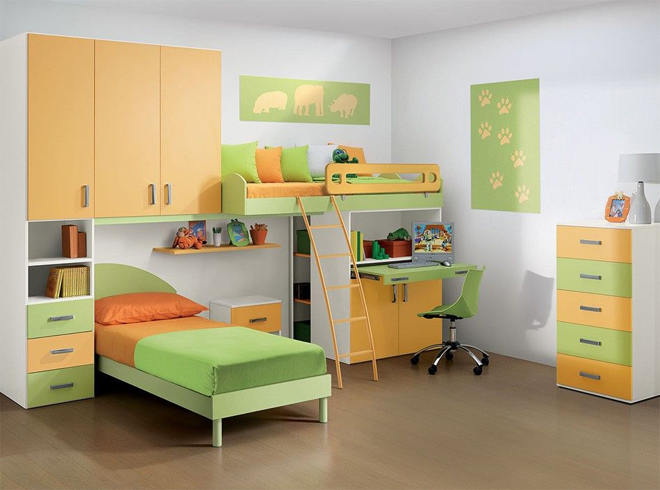 Modern Italian Kids Bunk Bedroom Composition Vv G078 Www