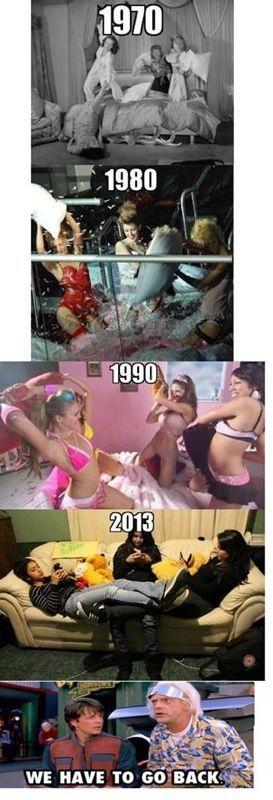 #humor Vaya Face!: Guerras de almohadas de chicas antes y en la actualidad