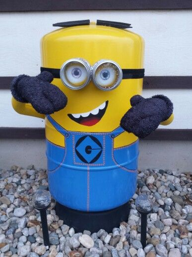 Minion made from pressure tank