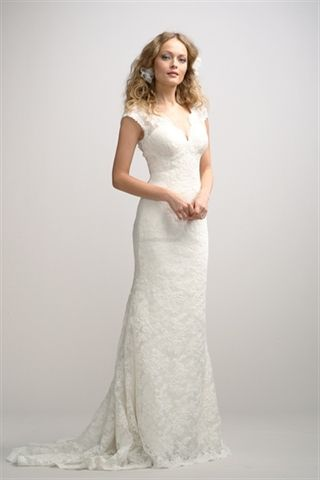 Picture of Ivory Lace Wedding Gown, Lace Vintage Wedding Dresses, Wedding Dresses