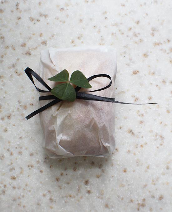 Wrapped up Irish soda cake.