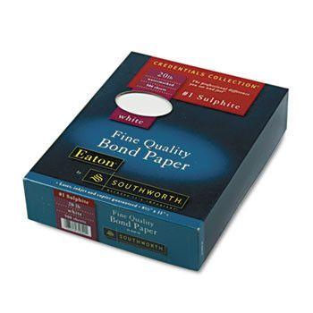 Quality Bond #1 Sulphite Paper, White, 20 Lbs., Wove, 8-1/2 X 11, 500/box
