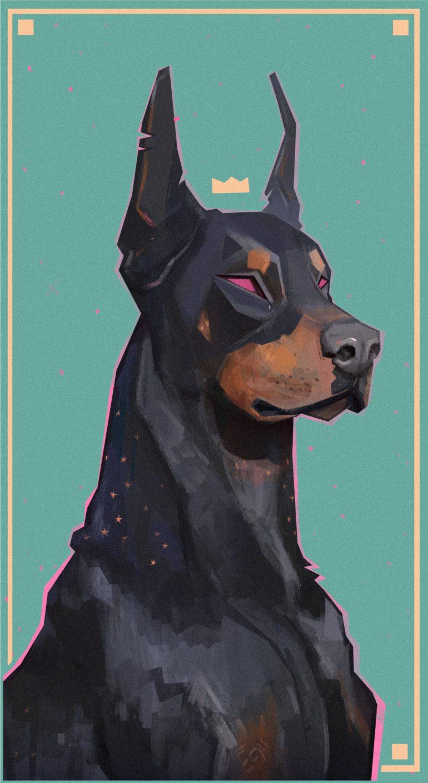 King Dobermann Francois Bourdin On Inspirationde Dog Art Animal Art Art Drawings