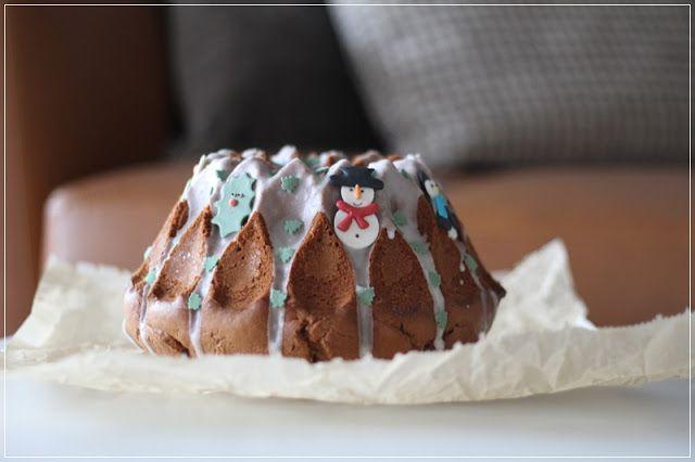 Ein Hubsch Dekorierter Lebkuchen Gugelhupf Give Away Werbung Lebkuchen Gugelhupf Sckokokuchen
