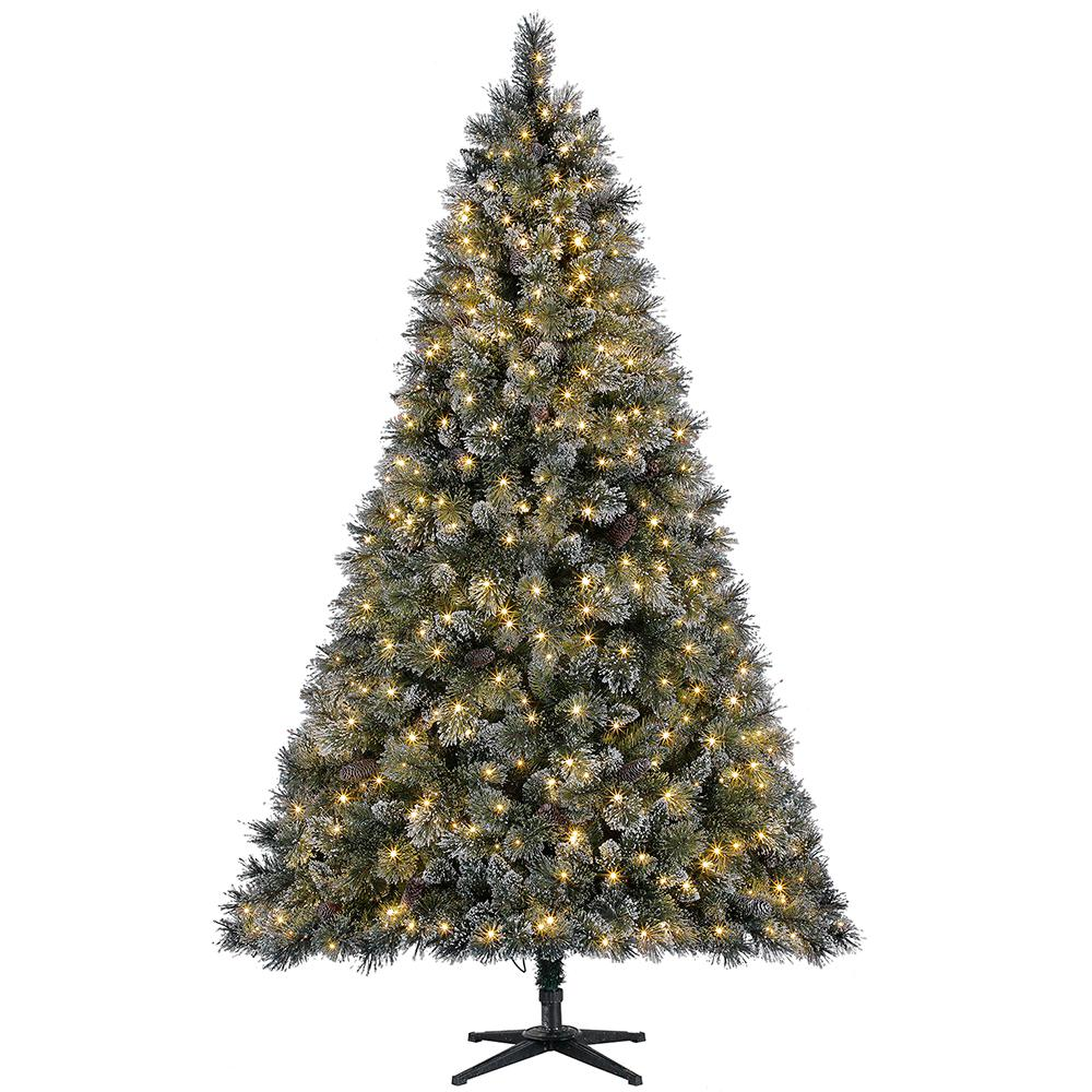 Home Accents Holiday 7 5 Ft Pre Lit Led Sparkling Pine Artificial Christma Artificial Christmas Tree Flocked Artificial Christmas Trees Pre Lit Christmas Tree