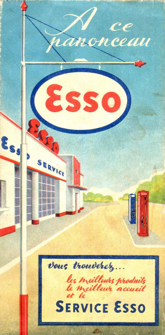 Here is an ad of Guenzel's ESSO Service Station on the