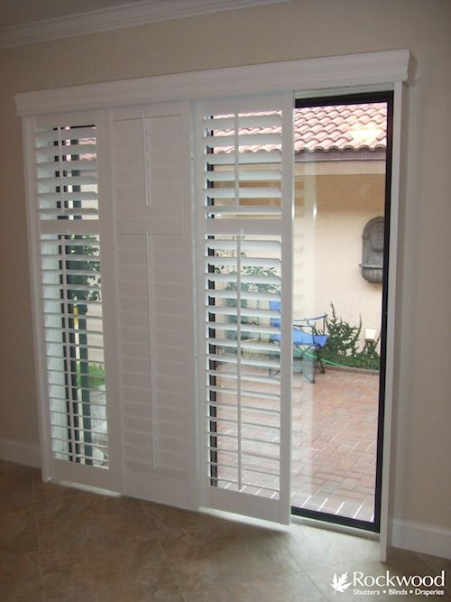 Shutters For Sliding Glass Patio Doors Window Treatment Shutters