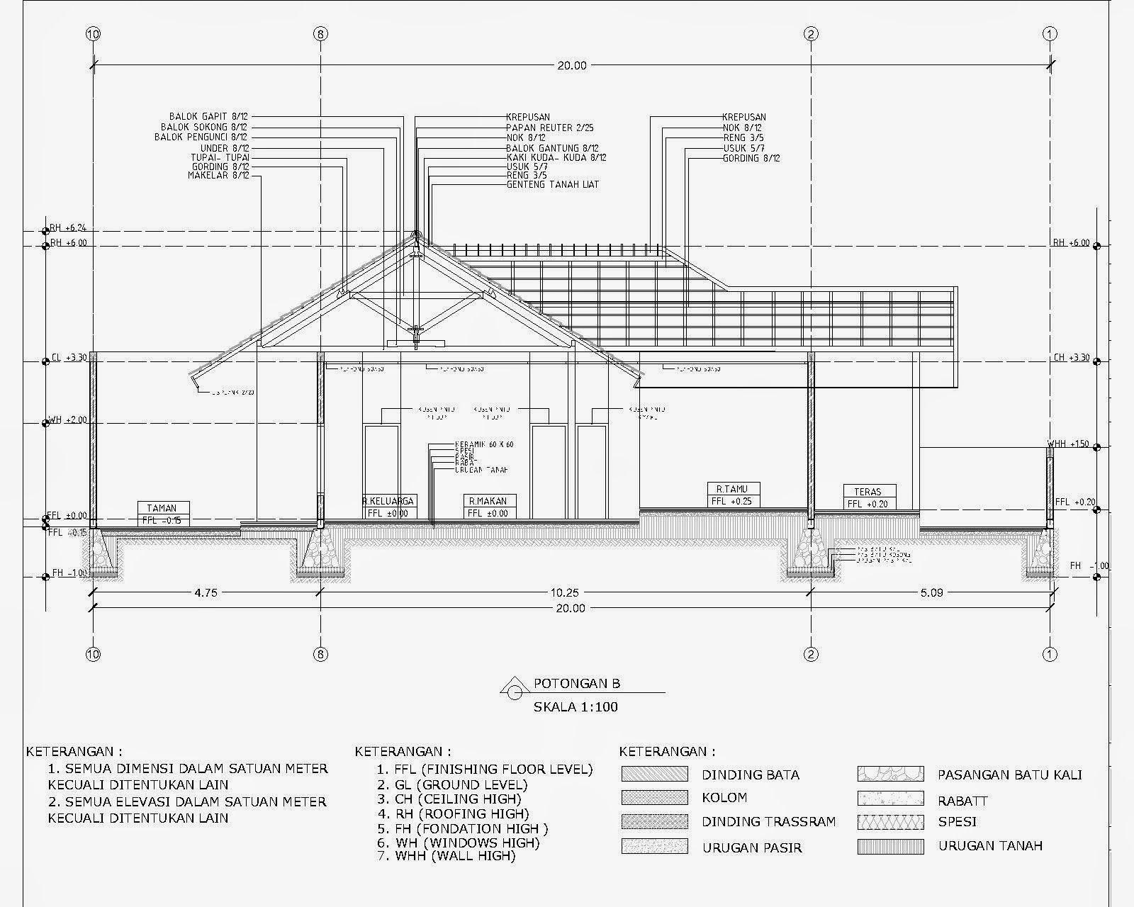Contoh Denah Rumah Dengan Autocad  Desain Rumah