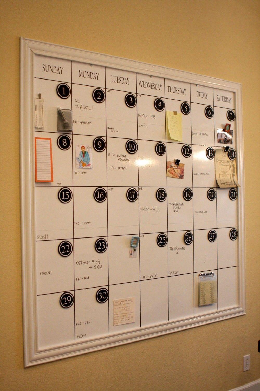 Large Dry Erase Magnetic Calendar Via Etsy Diy I Think