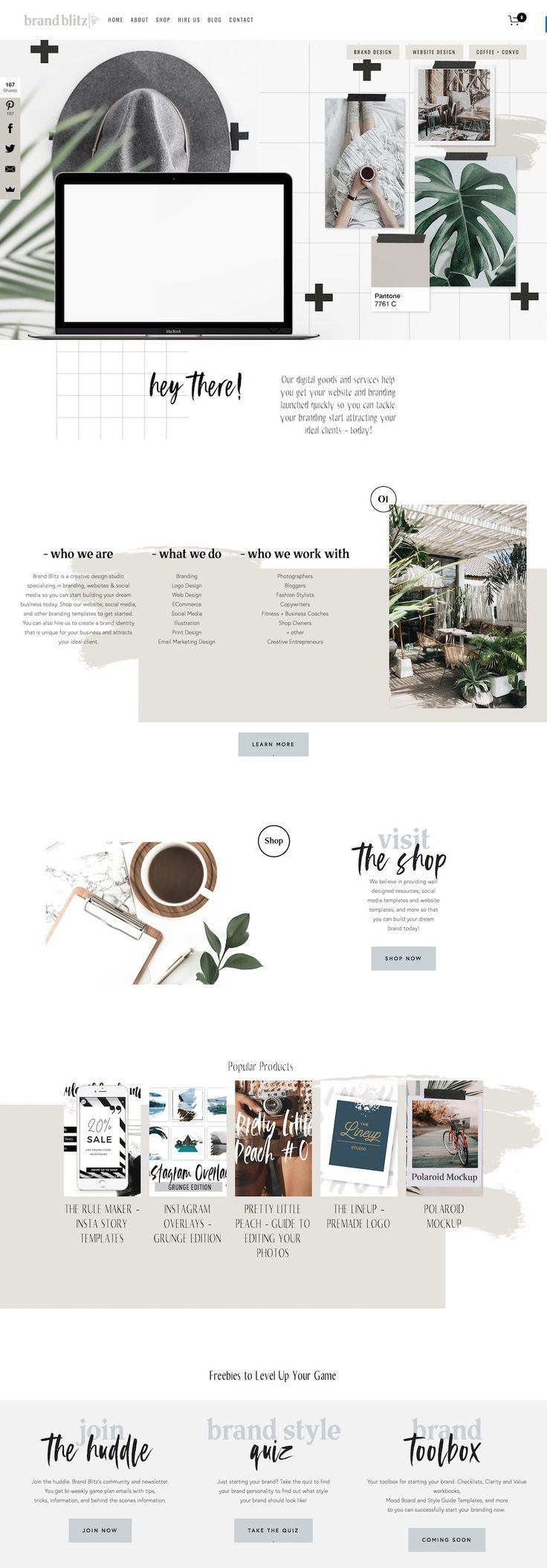 Top 10 Modern & Edgy Squarespace Web Designs for Inspiration — Big Cat Creative | Squarespace Templates