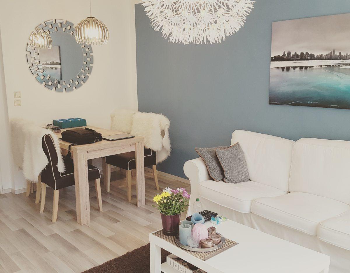 Interior Wohnen Karibik Blaues Wohnzimmer Mit Ikea Möbeln Ektorp