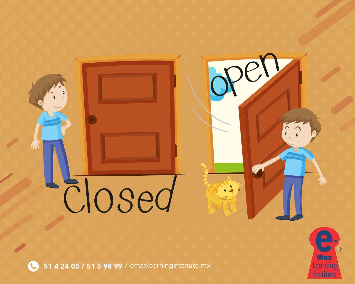 Let S Practice Opposites Closed And Open Emax English