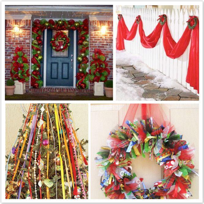 Decoration, Christmas Decorations Outside Ideas The Attractive - christmas decorations for outside