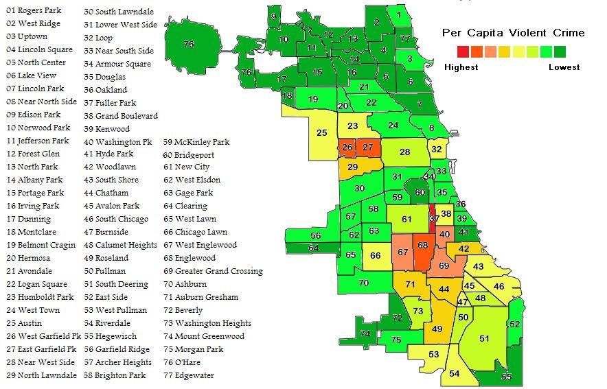 Chicago Bad Neighborhoods Map | www.bilderbeste.com