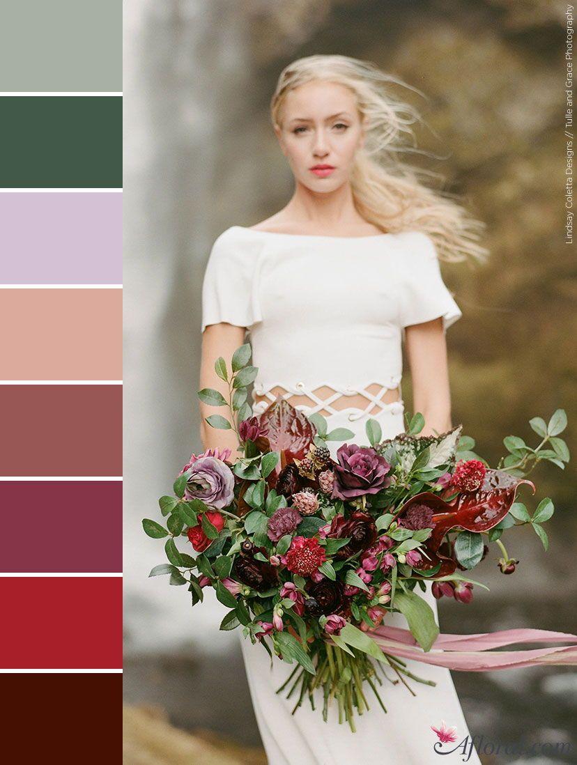Fall Bridal Bouquet Color Palette