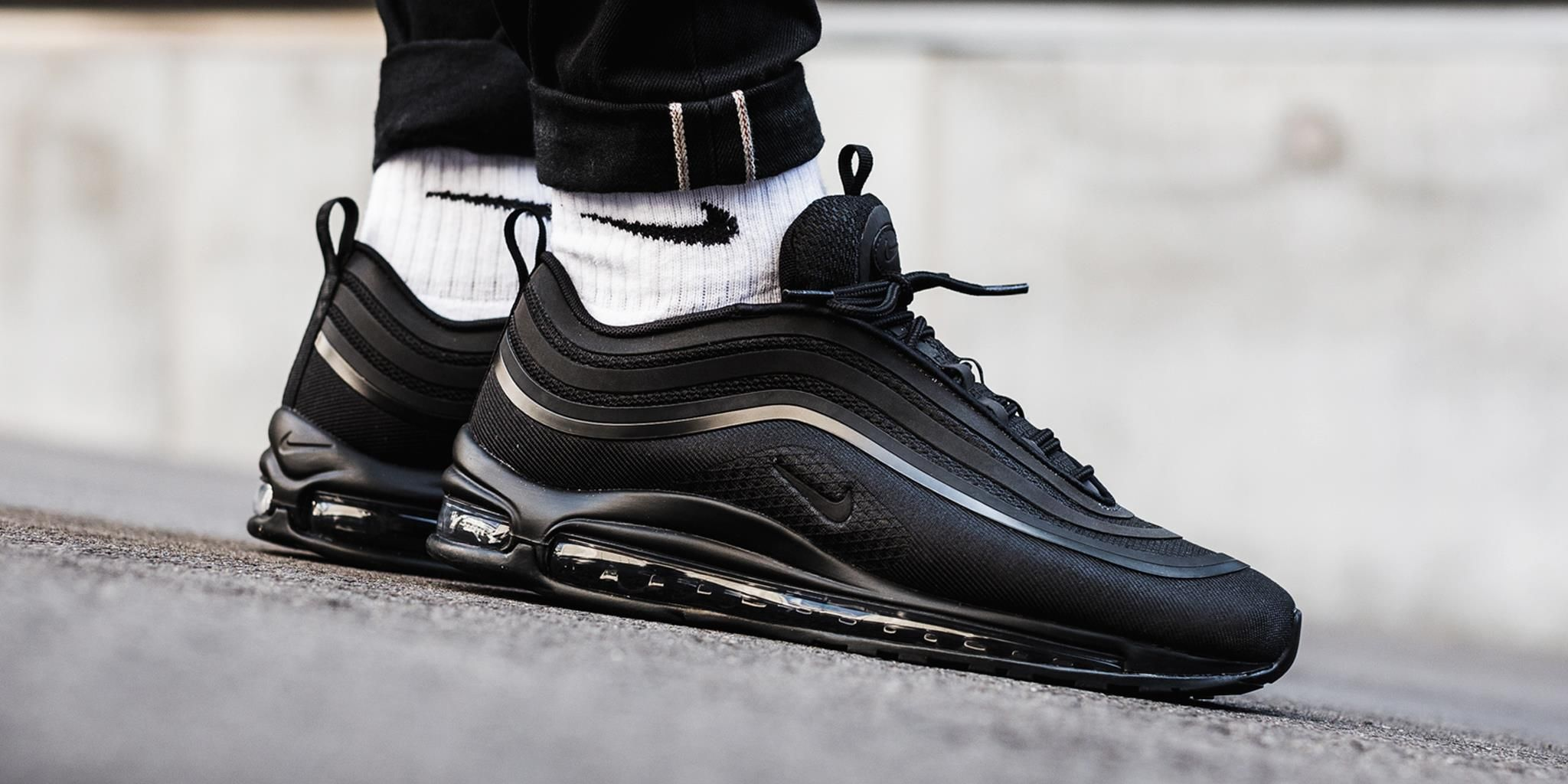 nike air max 97 triple black men