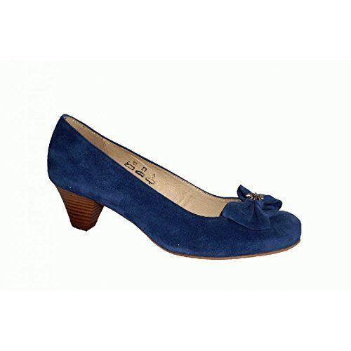 Trachtenschuhe damen blau