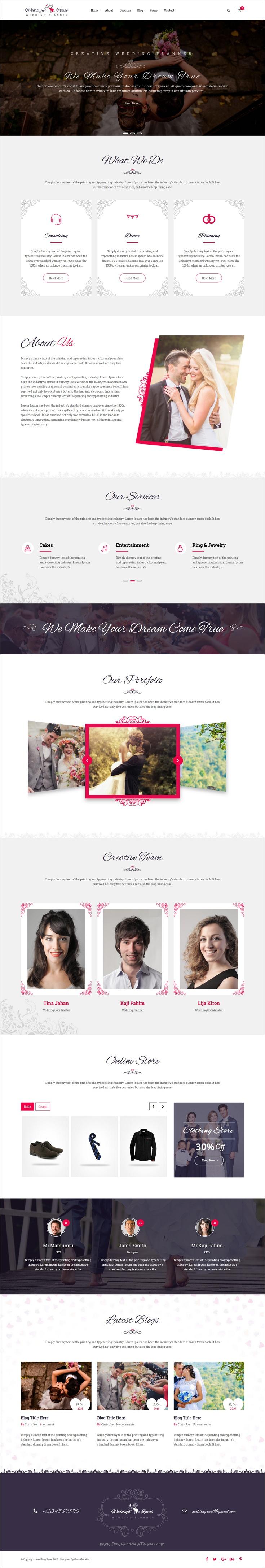 Wedding Reval - Wedding Planner & Agency WordPress Theme | Wedding ...