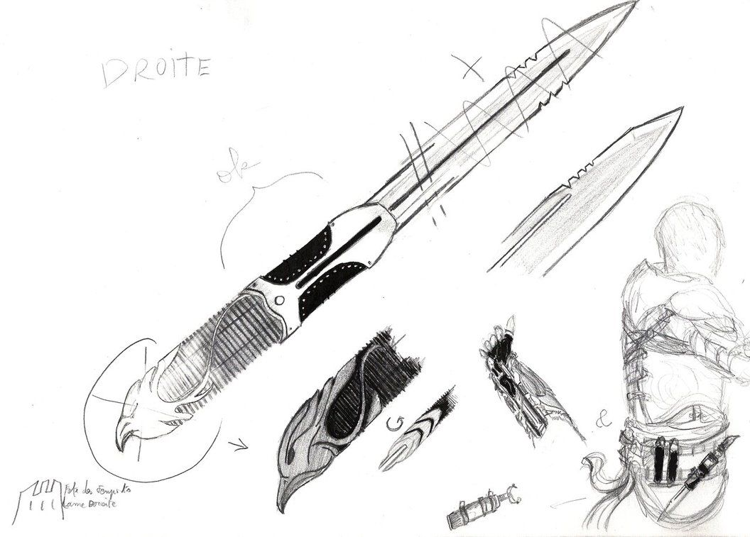 Alternate design hidden blade first sketches by wellthatwashard alternate design hidden blade first sketches by wellthatwashard malvernweather Images