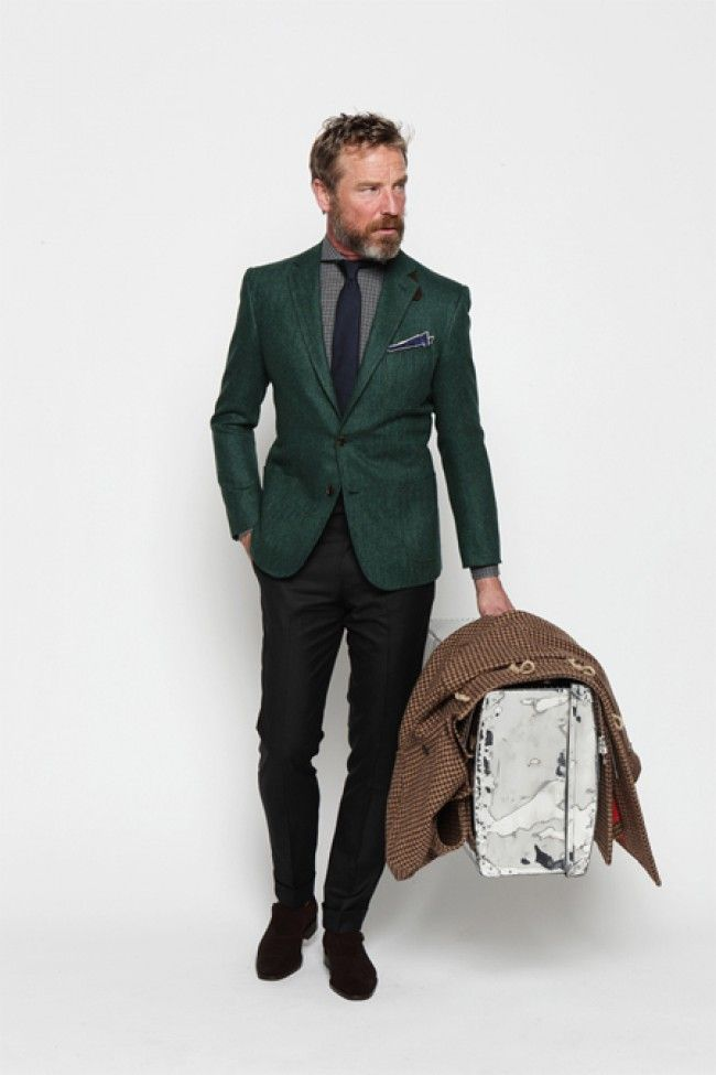 Images of Green Mens Blazer - Reikian