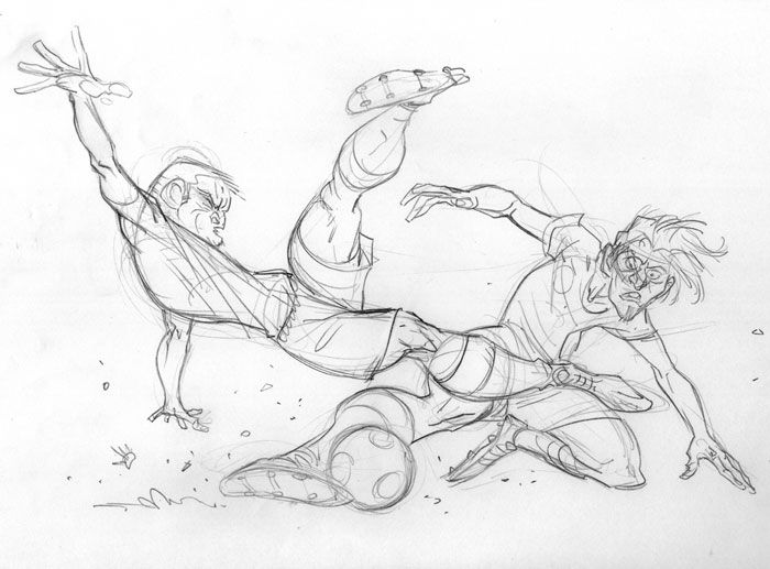 Soccer Player Character Drawing Sketch Action Poses Sketches Character Design Sketches Character Drawing
