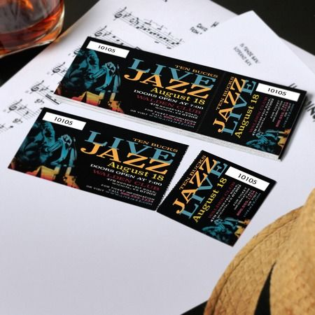 Event Tickets - Custom Ticket Printing - UPrinting My - how to design a ticket for an event