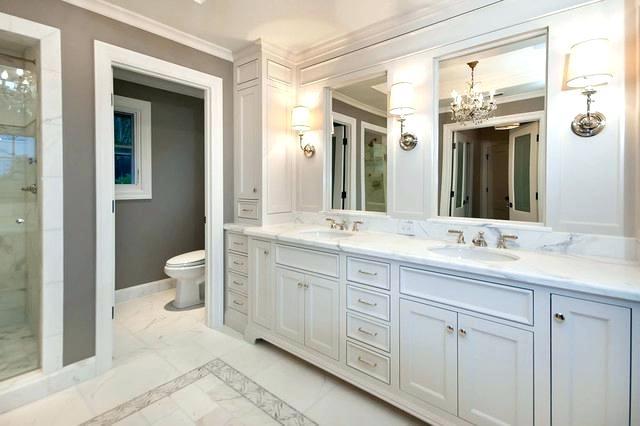 White Master Bathrooms Master Bath In White Traditional Bathroom White Master Bathro In 2020 Modern Master Bathroom Design White Master Bathroom Modern Master Bathroom