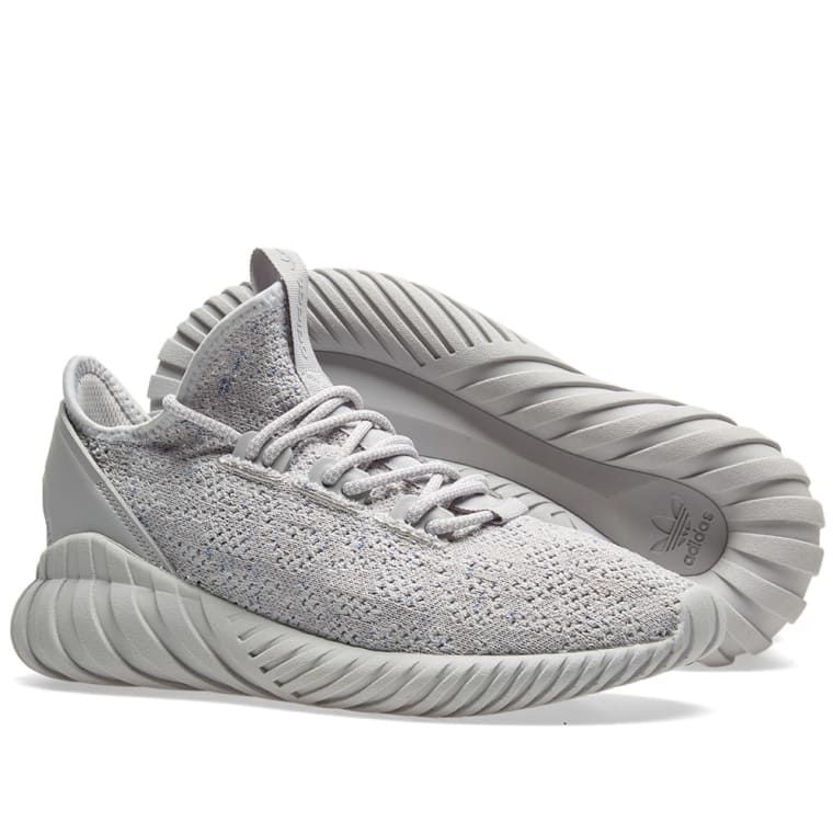 cheap for discount ec372 0c687 Adidas Tubular Doom Sock PK Grey Two, White   Hi-Res Blue 7