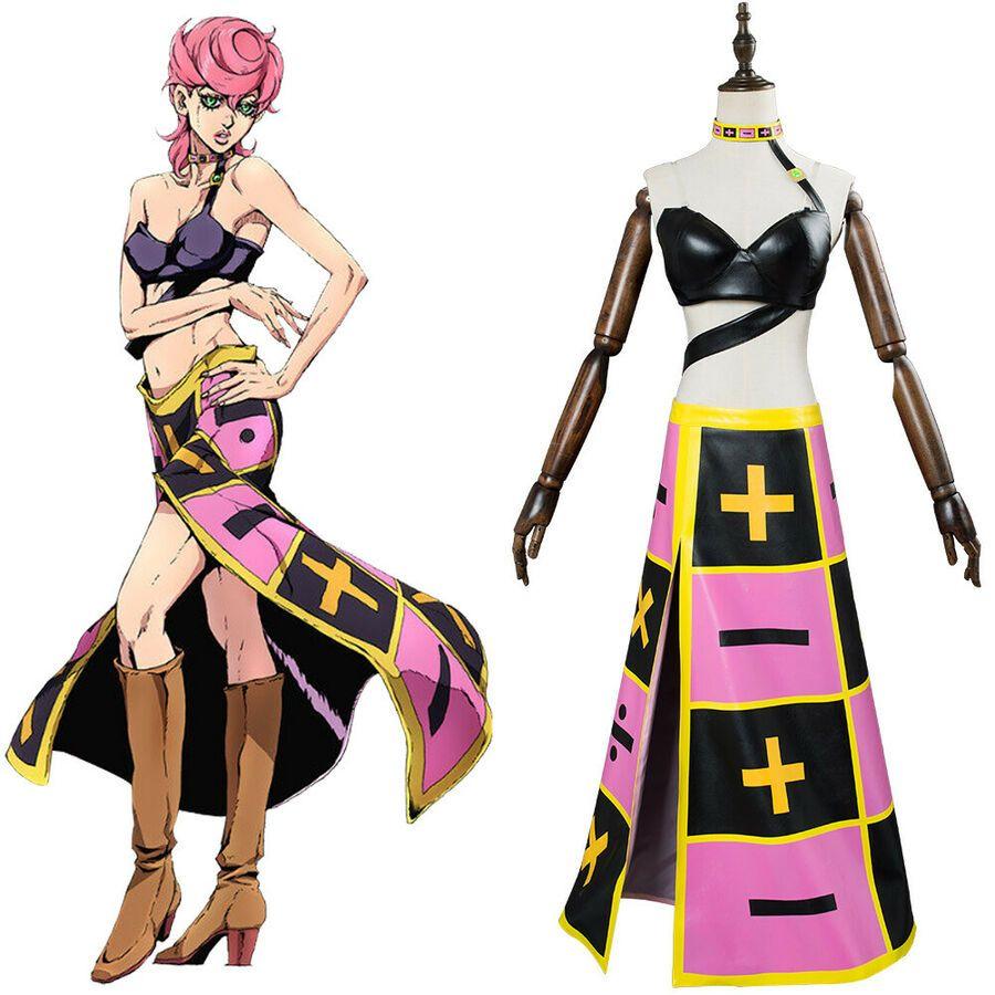 JoJo/'s Bizarre Adventure Golden Wind Trish Una Cosplay Costume Outfit Suit