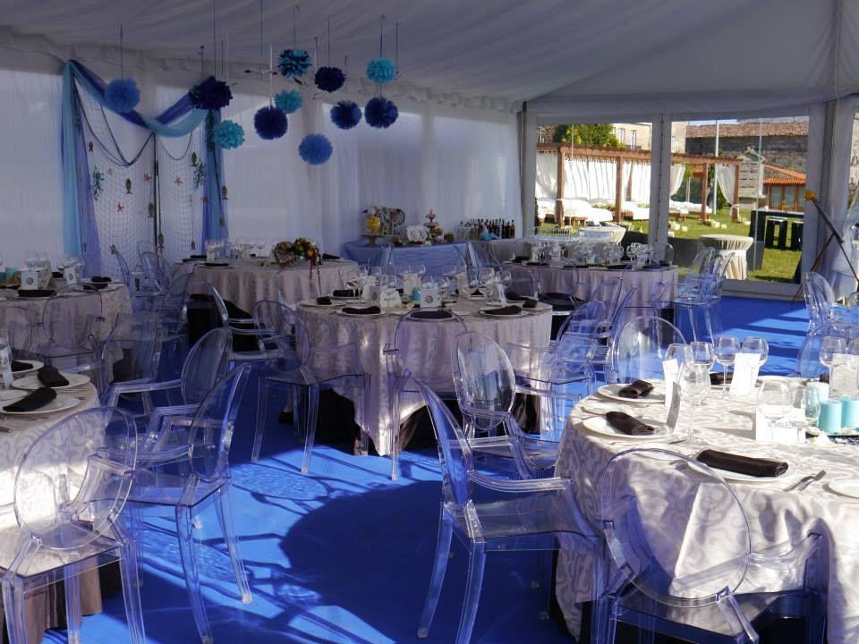 interior carpa   boda marinera   Pinterest
