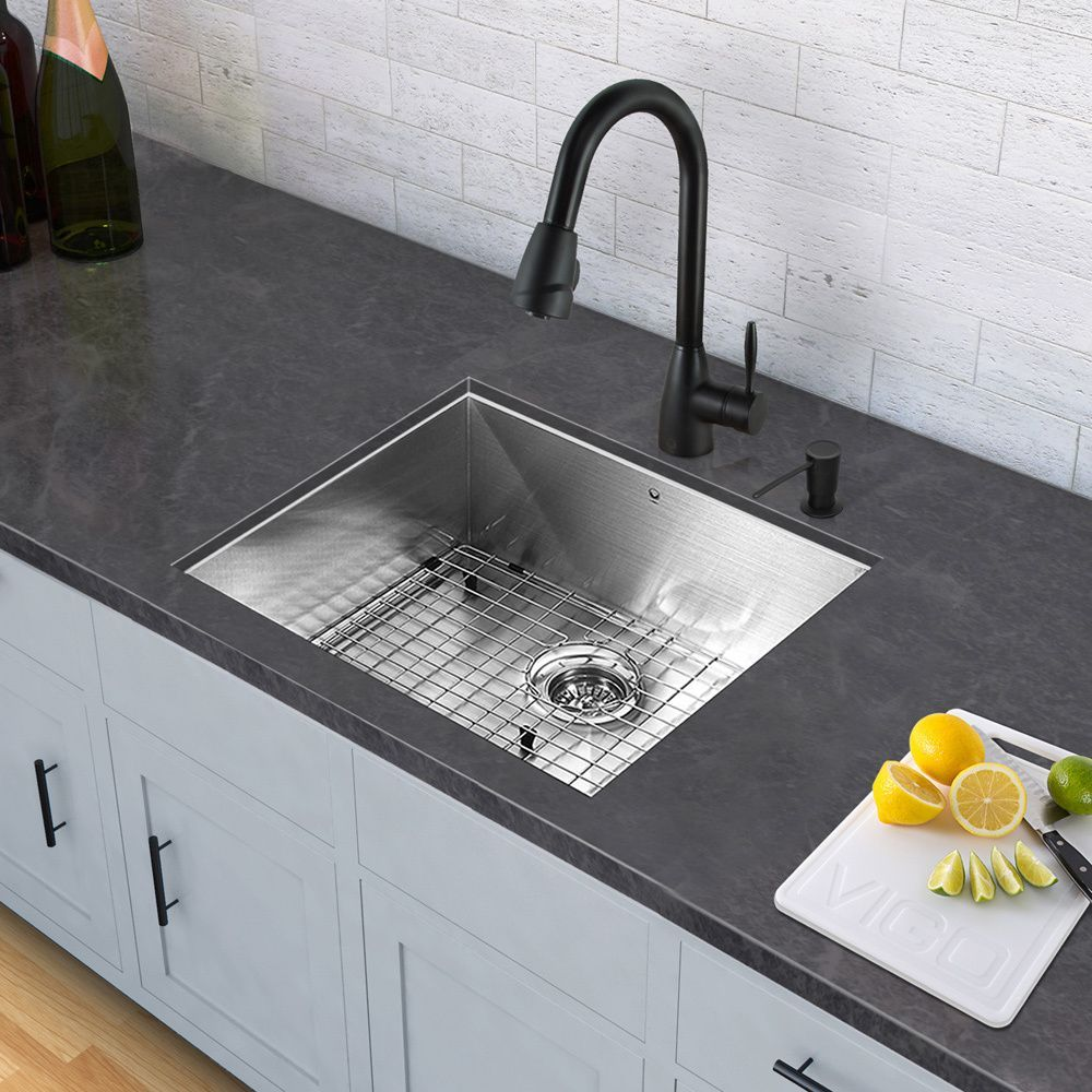 VIGO Graham Matte Black PullDown Spray Kitchen Faucet