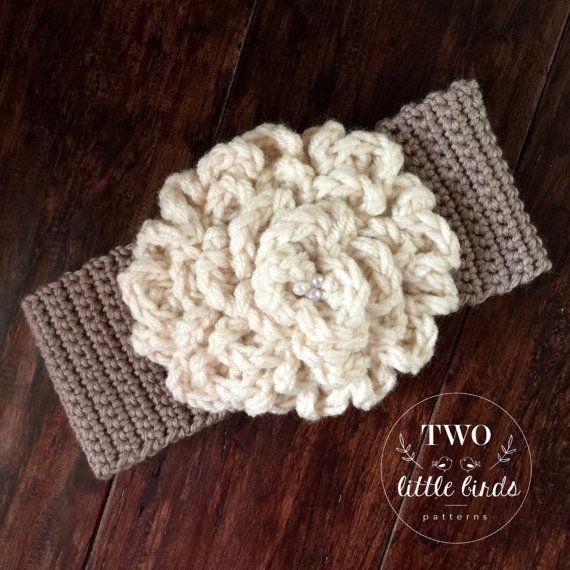 Easy crochet Pattern, crochet ear warmer pattern, gift for her ...