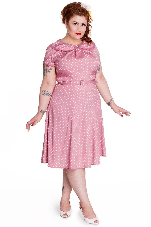 Hell Bunny 50 S Retro Mod Sassy Polka Dot Sunday Dress