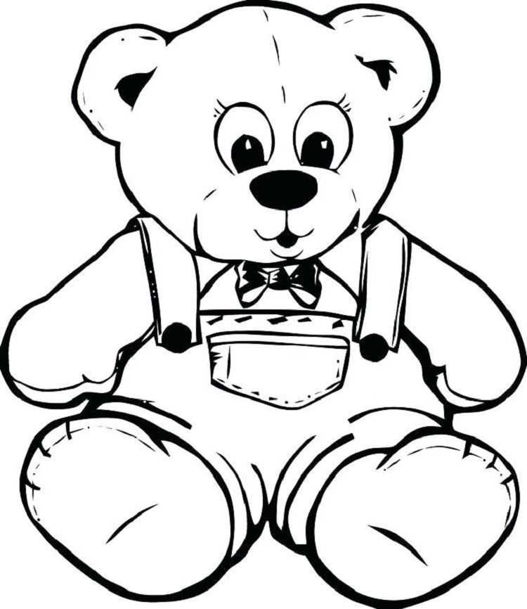 - Teddy Bear Coloring Book Pages Teddy Bear Coloring Pages, Bear Coloring  Pages, Teddy Bear Drawing