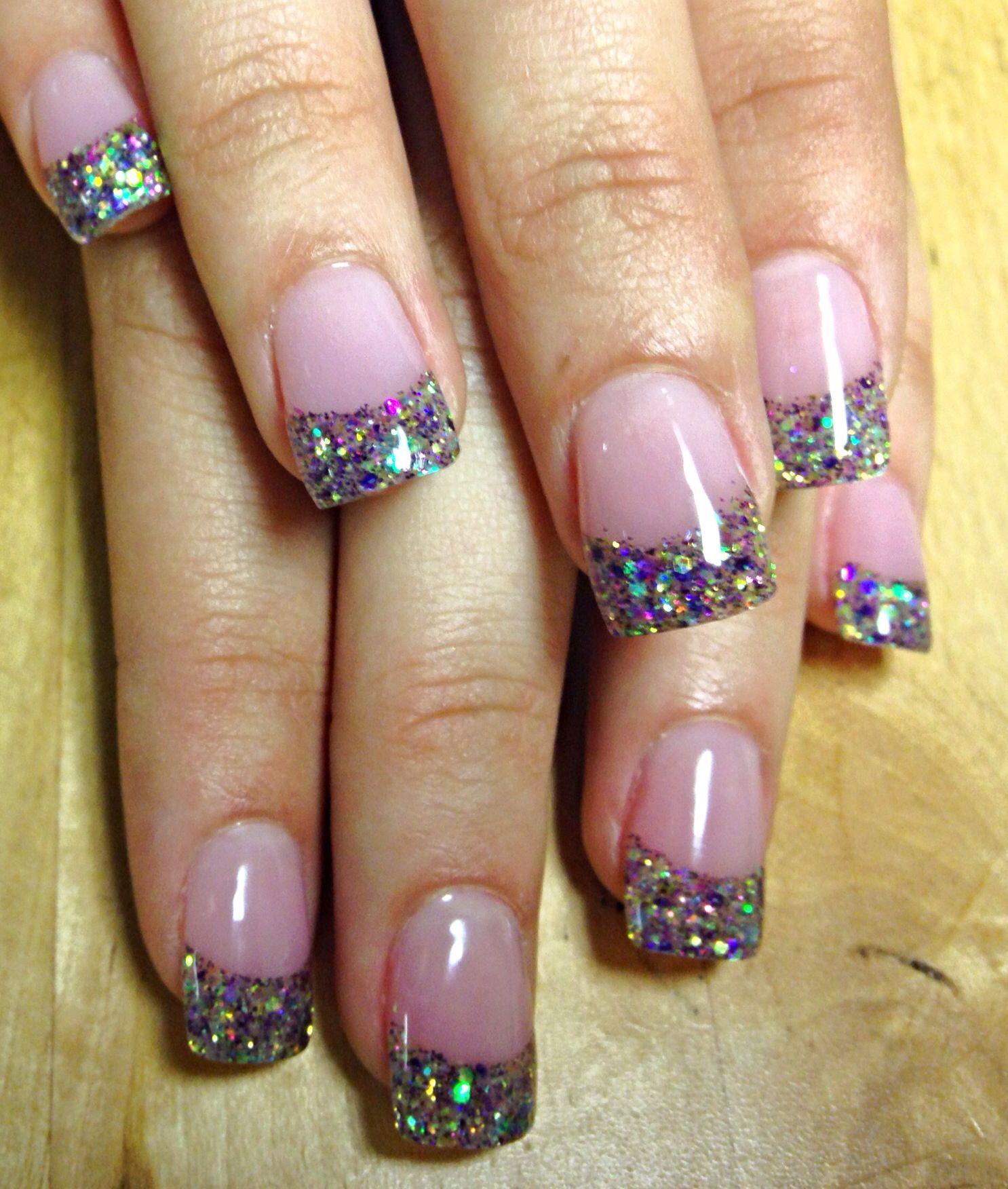 Acrylic Nails Seashell Sparkle Nail Designs Trendy Nails Super Nails