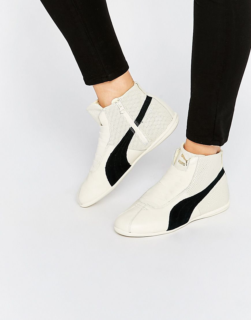 Image 1 of Puma Eskiva White Mid Trainers
