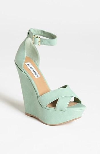 Great color! Steve Madden Mint Wedge Sandal | Women\'s Shoes ...