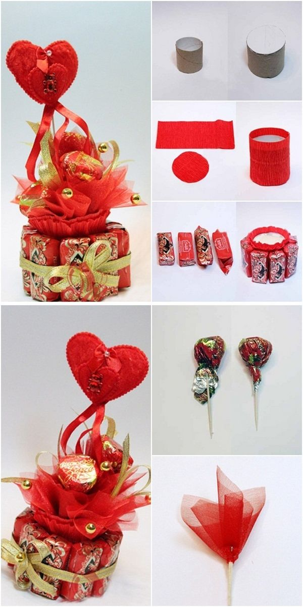 Valentines Day Gift Idea Chocolates Organza Toothpicks Toilet Paper