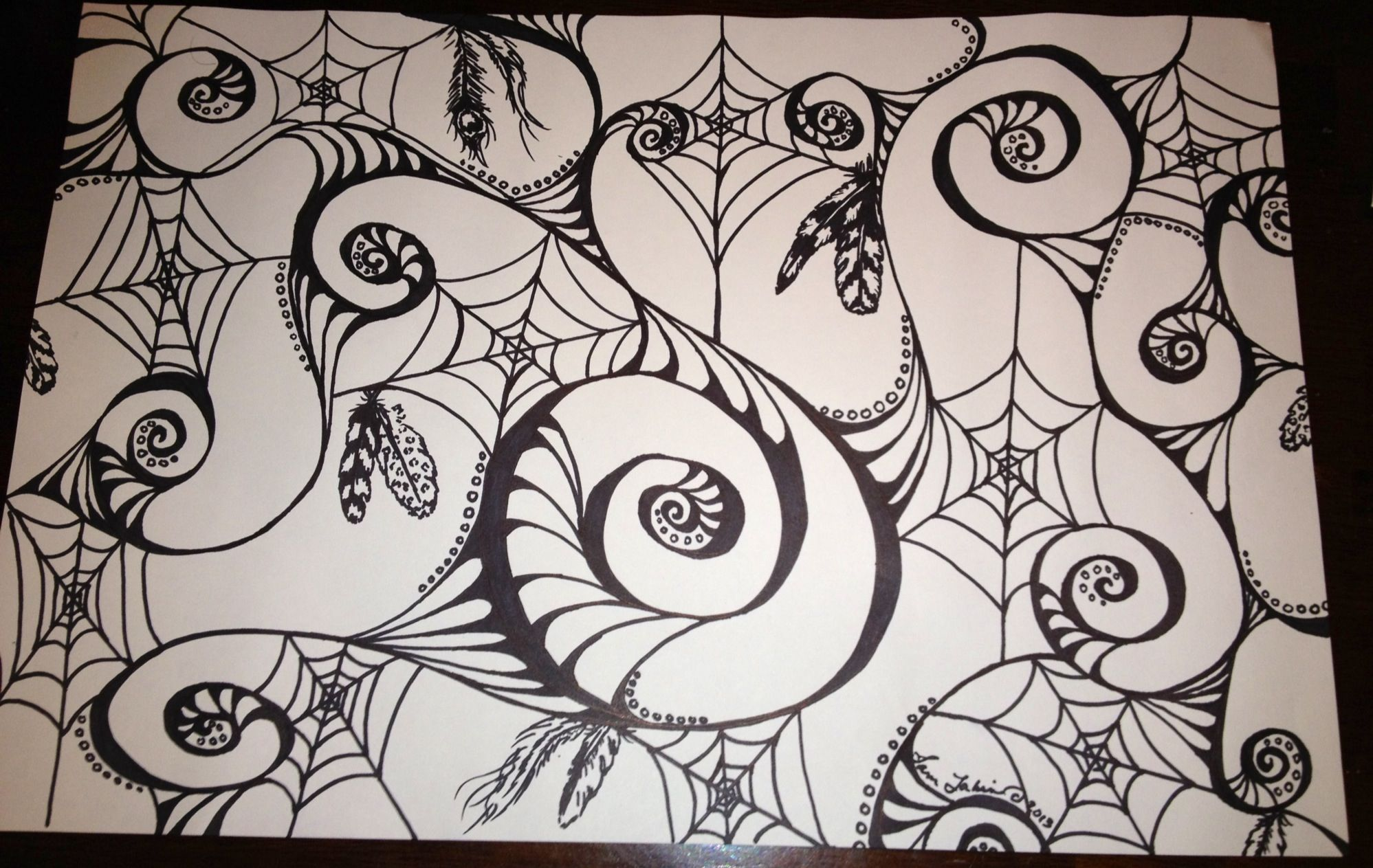Spirals and spiderwebs doodle by sam lakin doodles pinterest