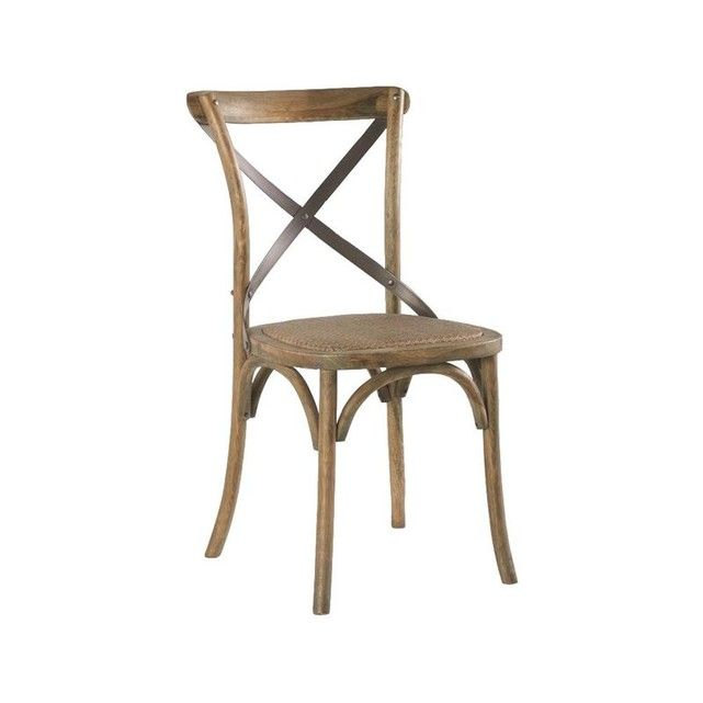 Chaise bistrot chêne et fer vieilli GASCOGNE Salle à manger
