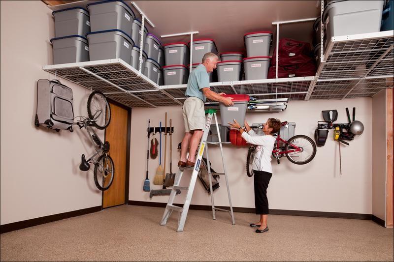 Perfect 1 Weekend Garage Organization | Garage Storage Racks, Overhead Garage  Storage And Garage Storage